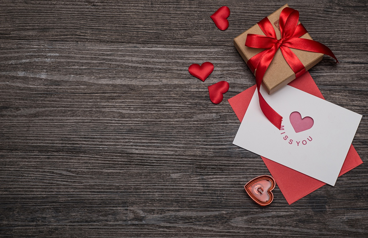 Images Valentine's Day Heart Gifts Template greeting card present