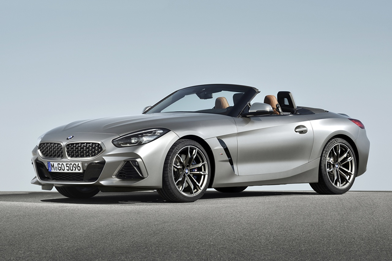 Wallpaper BMW M40i Z4 2019 G29 Convertible Silver color automobile Cabriolet Cars auto