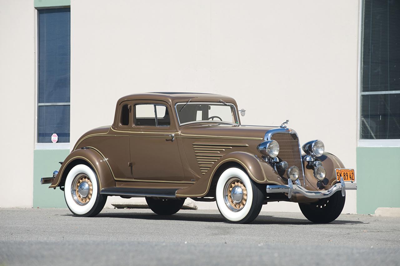 Image Dodge 1934 Deluxe Rumble Seat Coupe Brown vintage Cars Retro antique auto automobile
