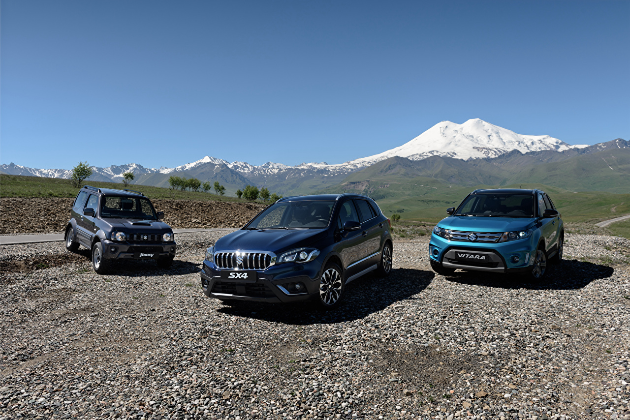 Desktop Wallpapers Suzuki - Cars Vitara, Jimny, SX4 Three 3 automobile Cars auto