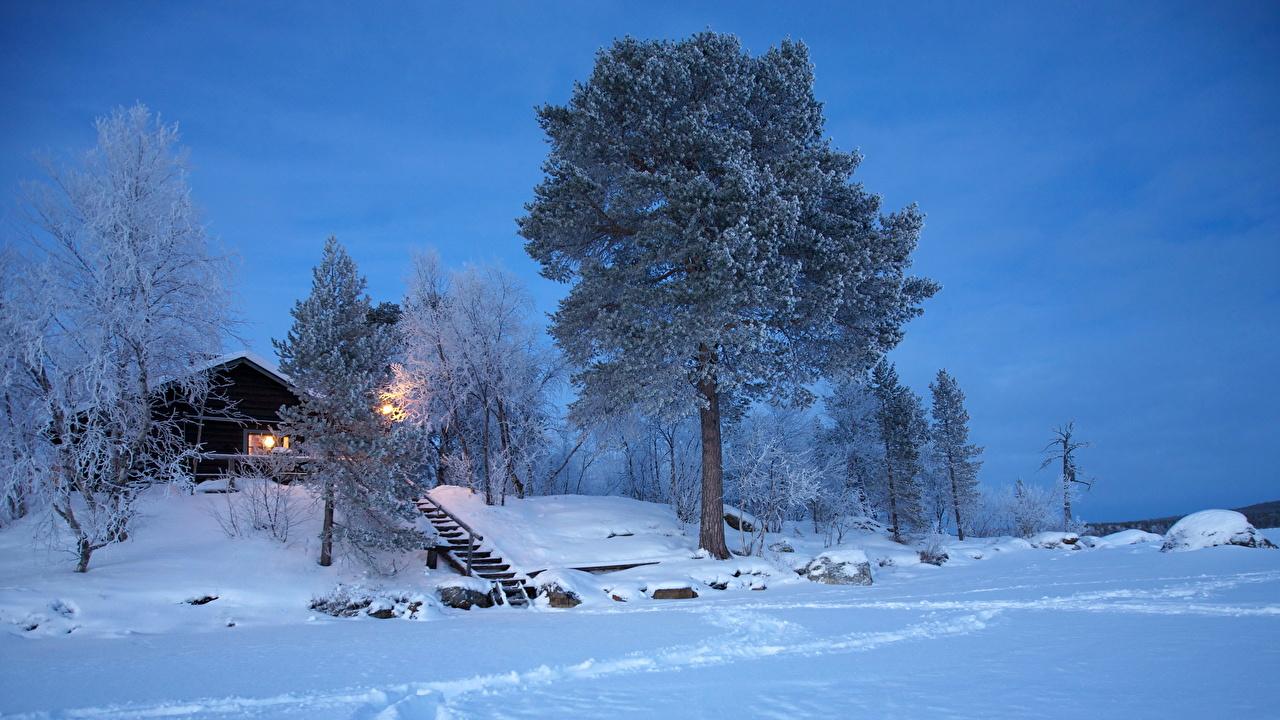 Fonds D Ecran Saison Hiver Finlande Neige Nature Telecharger Photo