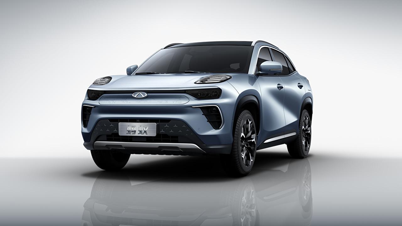 Foto Chery chinesische Crossover eQ5, S61, 2020 auto Vorne Metallisch Chinesisch chinesischer chinesisches Softroader Autos automobil