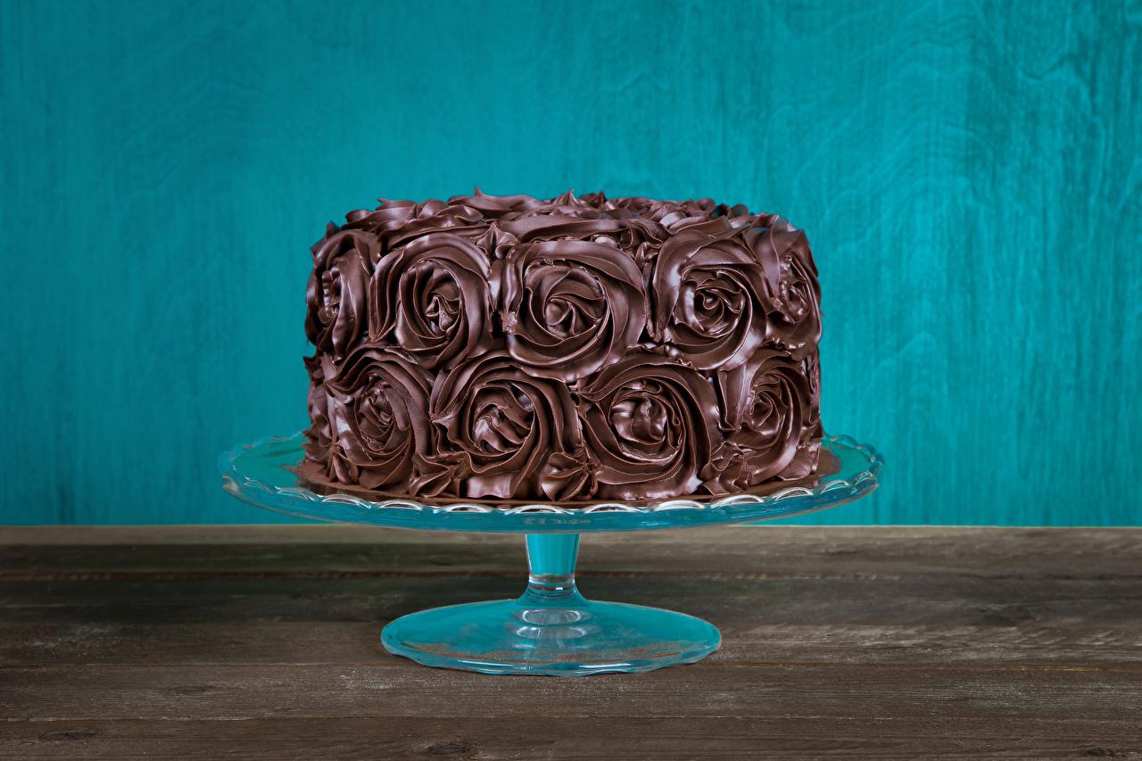 Photo Chocolate Cakes Food Sweets Design Torte