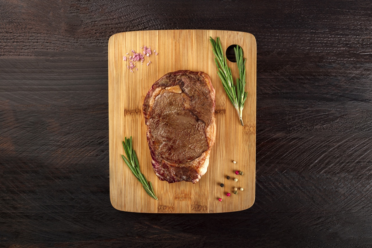 Pictures rosemary Food Cutting board Meat products