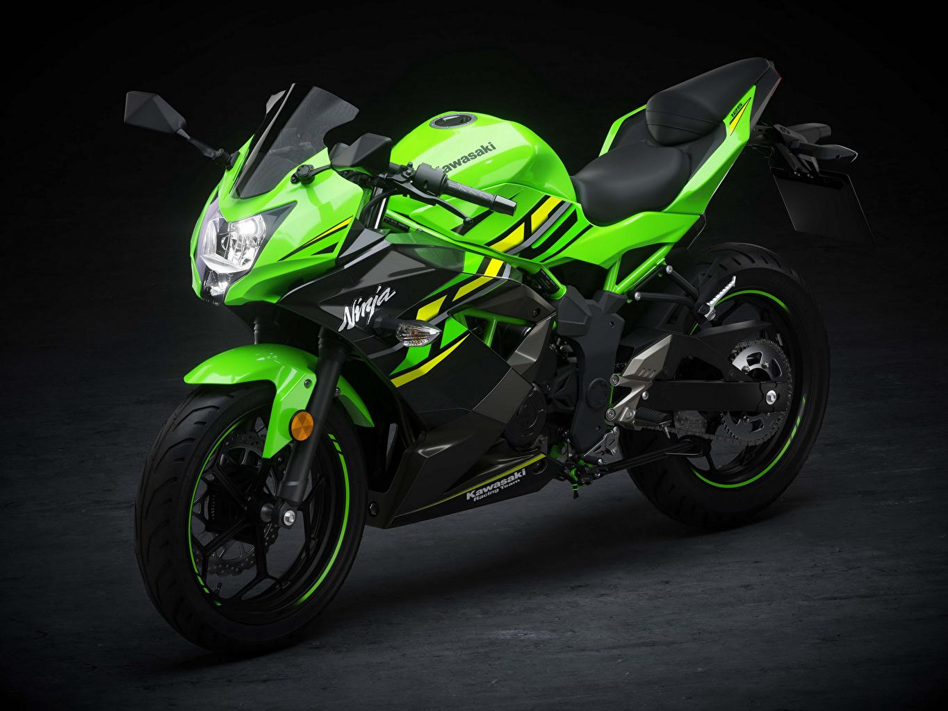 壁紙 川崎重工業 18 Ninja 125 黄緑 オートバイ ダウンロード 写真