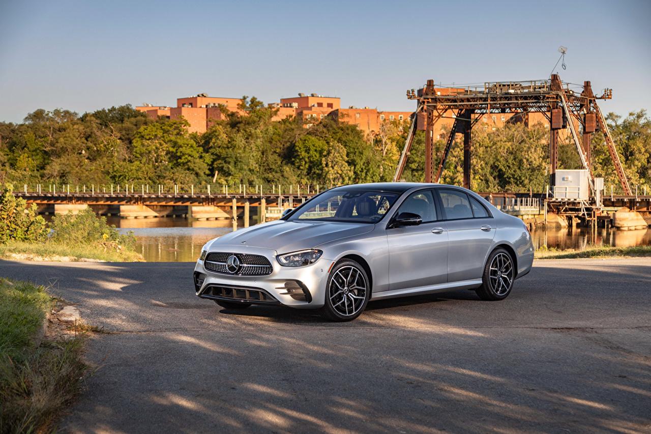 Picture Mercedes-Benz E 450 4MATIC AMG Line, (W213), 2020 Silver color auto Metallic Cars automobile