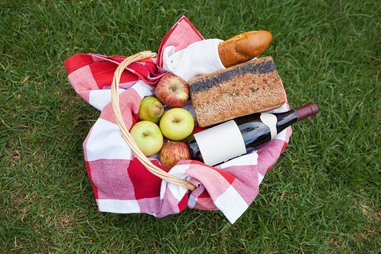 Images Picnic Wine Bread Apples Food bottles Bottle
