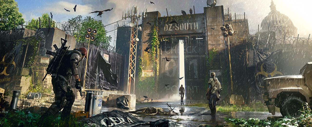 壁紙 雨 トム クランシー The Division 2 Dark Zone ゲート ゲーム ダウンロード 写真