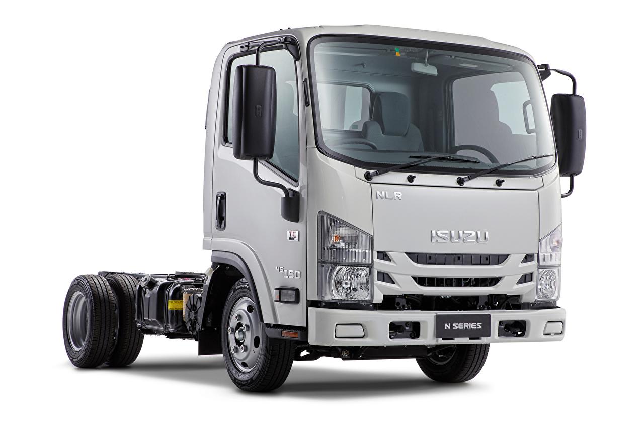 Pictures Isuzu lorry NLR 45-150, AU-spec, 2018 -- auto White background Trucks Cars automobile