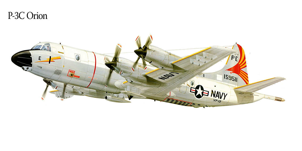 Image Airplane P 3c Orion Painting Art Aviation