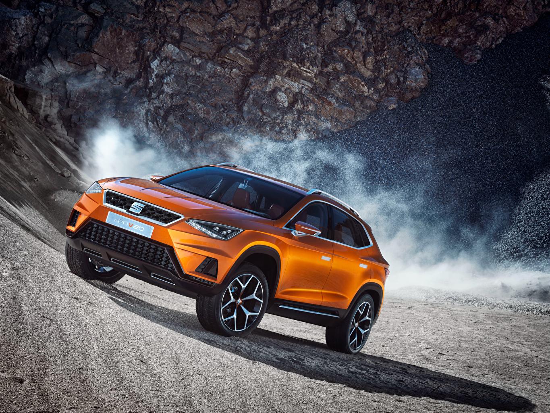 Desktop Wallpapers Seat Concept 20V20 2015 Orange Cars auto automobile