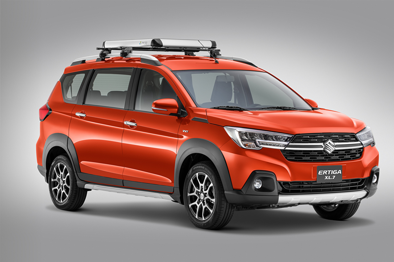 Picture Suzuki - Cars Suzuki Ertiga XL7, MX-spec, 2020 Red auto Metallic Gray background Cars automobile