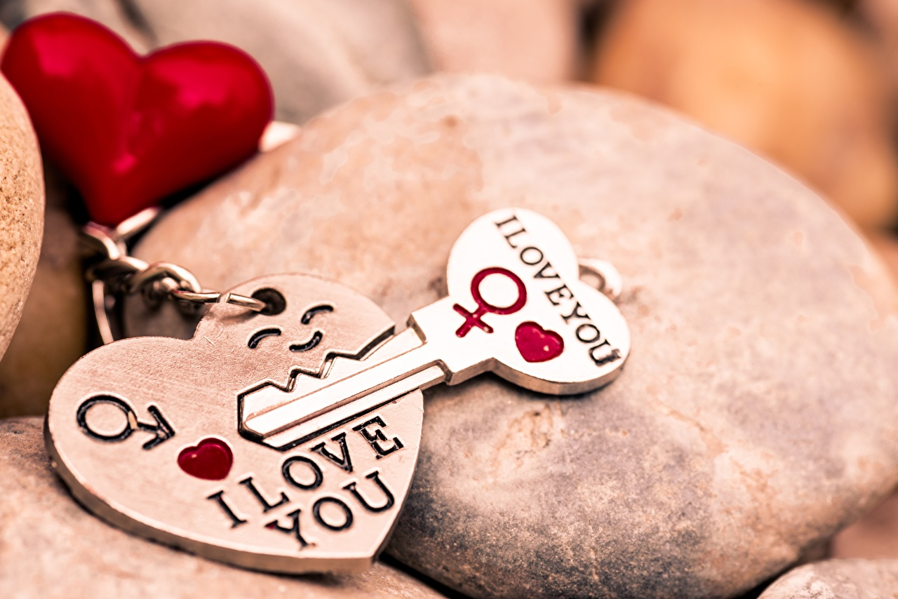 Pictures Valentine's Day Heart I LOVE YOU Souvenir Key lock