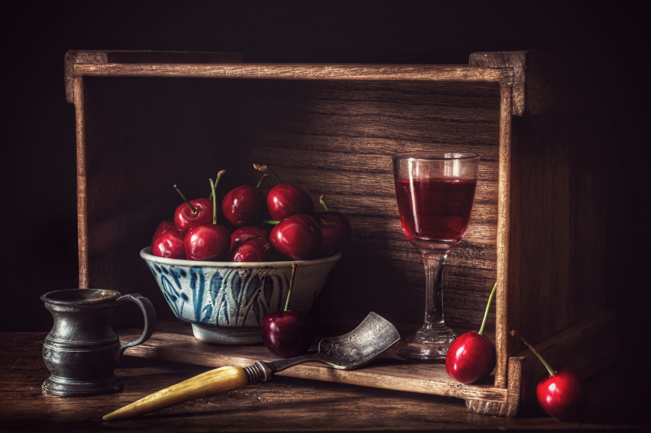 Pictures Wine Cherry Mug Food Stemware Still-life boards Wood planks