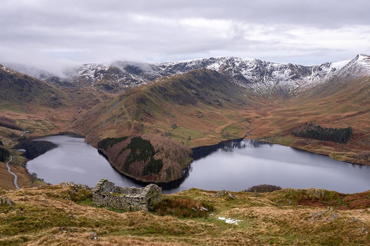 Fotos von England Haweswater, Cumbria Berg Natur See Wolke Gebirge