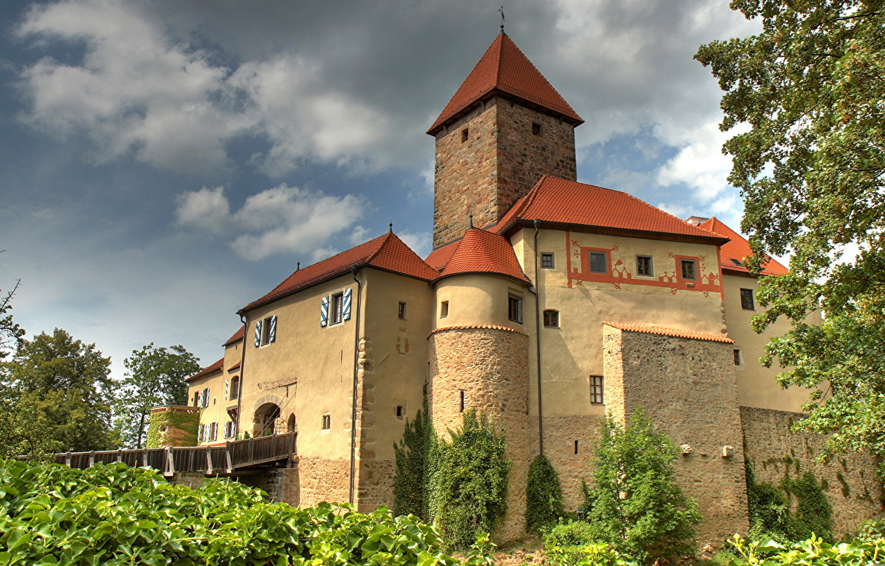 Images Bavaria Germany Wernberg Castles Made of stone Cities castle