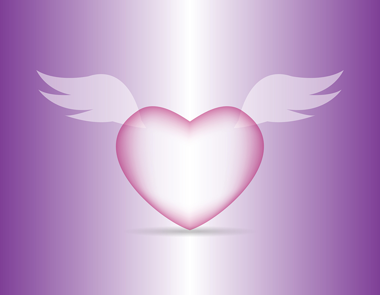 Image Valentine's Day Heart Wings Colored background