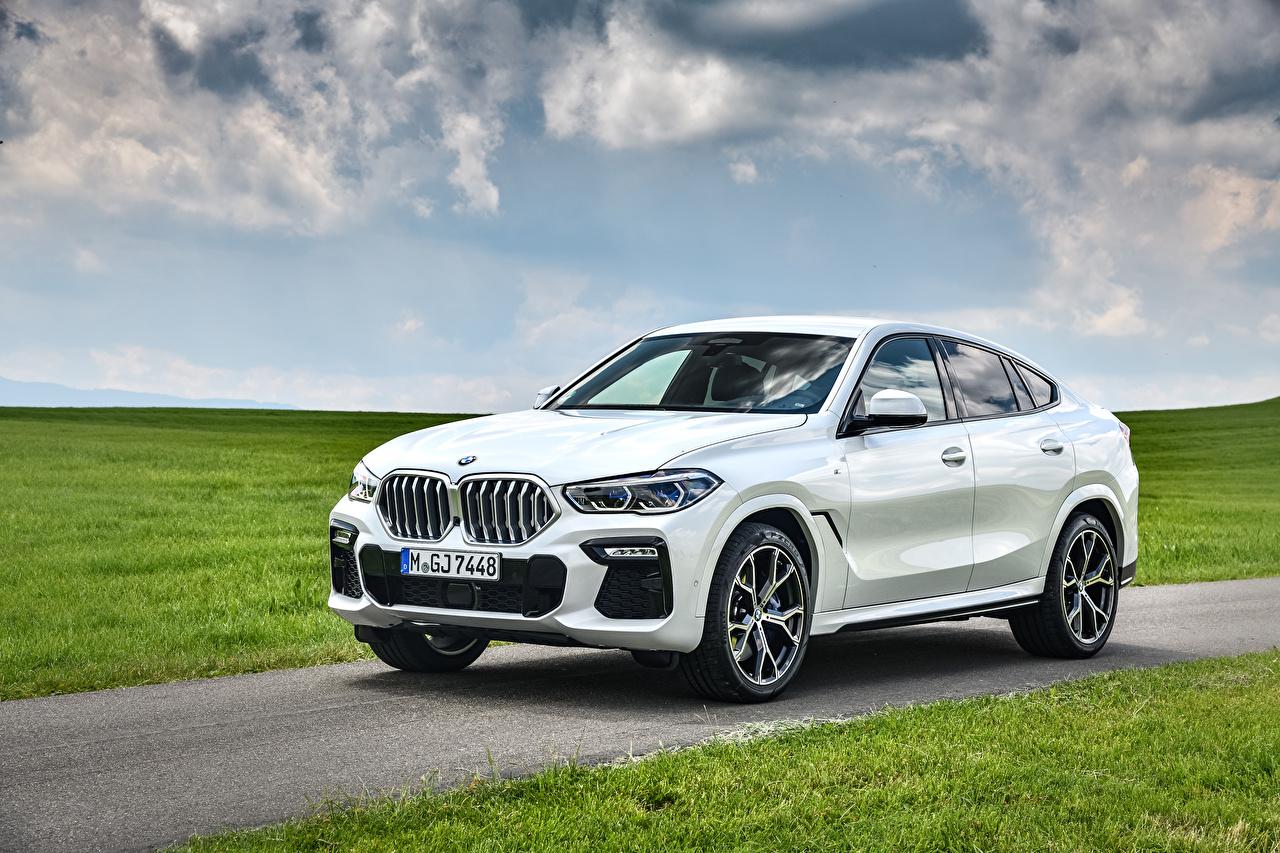 Fotos von BMW Crossover 2019-21 X6 xDrive30d M Sport Worldwide Weiß Autos Metallisch Softroader auto automobil