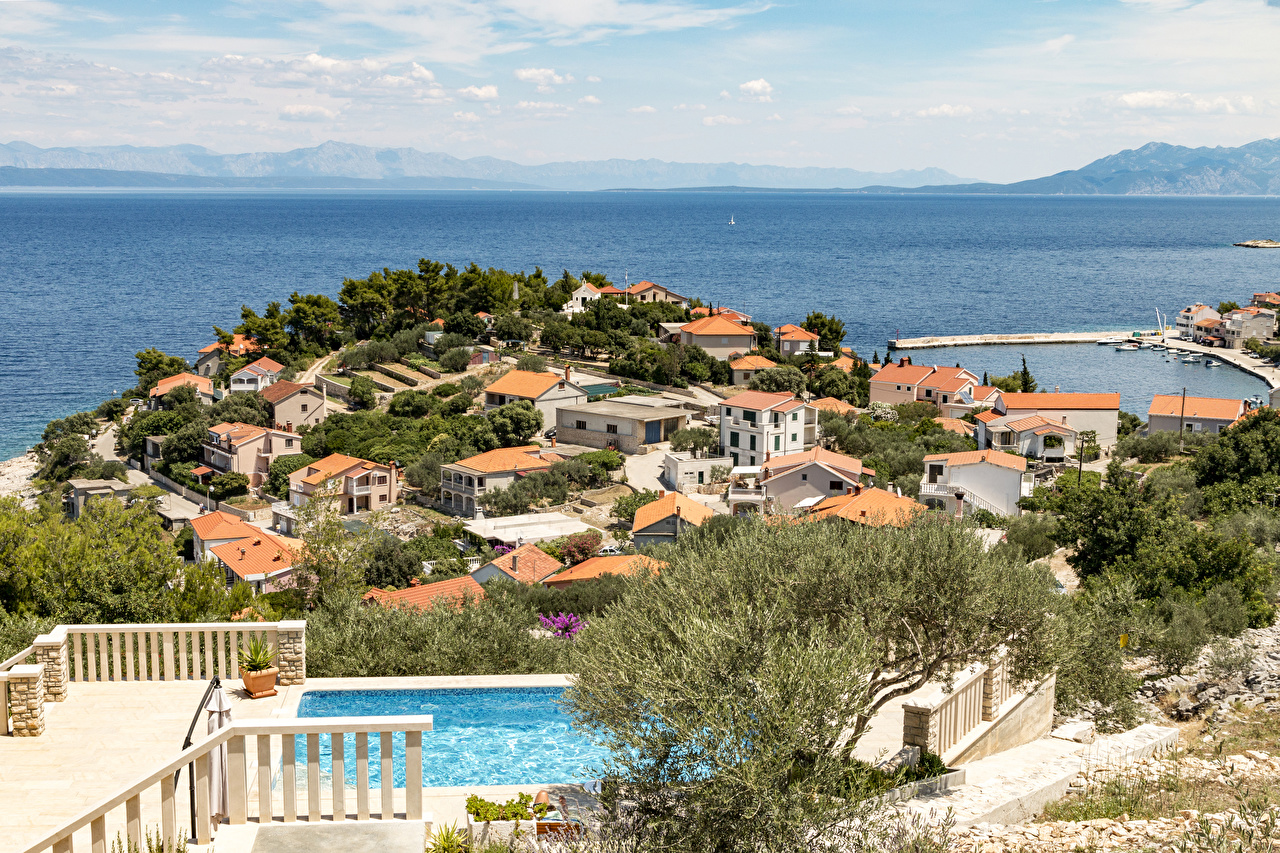 Обои курорт, Croata, дома. Города foto 10