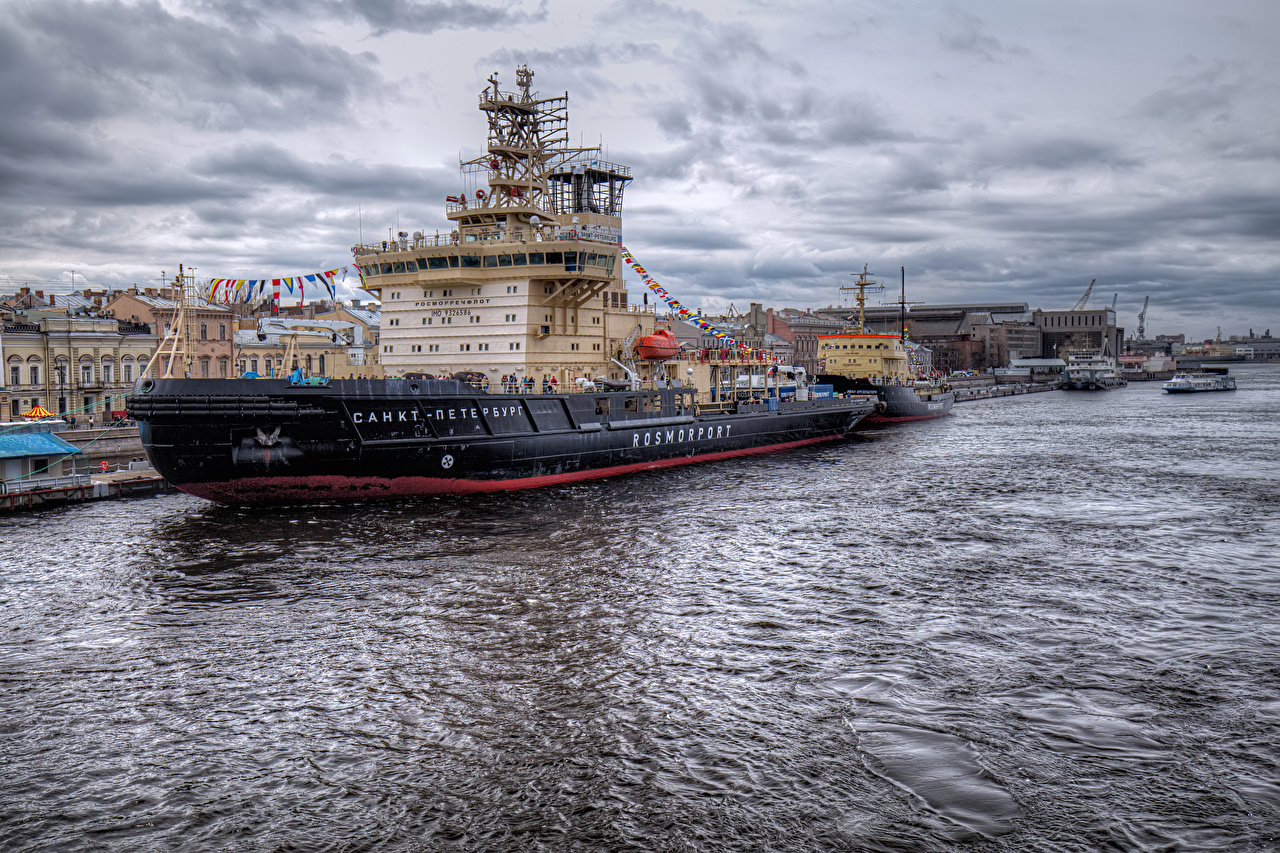 Wallpaper St. Petersburg Russia Ships Pier Rivers Cities ship river Berth Marinas