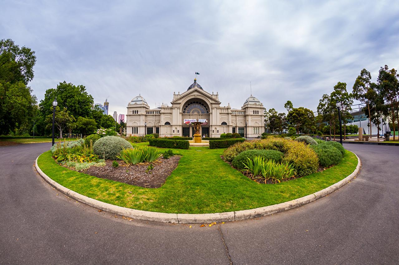 Australia Melbourne Casa Césped Arbusto Farola Edificio Ciudades