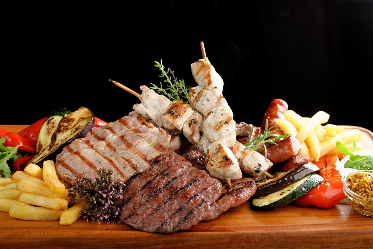 Images Shashlik Food Vegetables Meat products