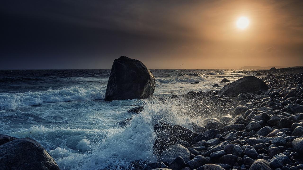 Fotos von Norwegen Skagerrak Strait, Molen Beach Meer Natur Morgendämmerung und Sonnenuntergang Stein Küste Sonnenaufgänge und Sonnenuntergänge Steine