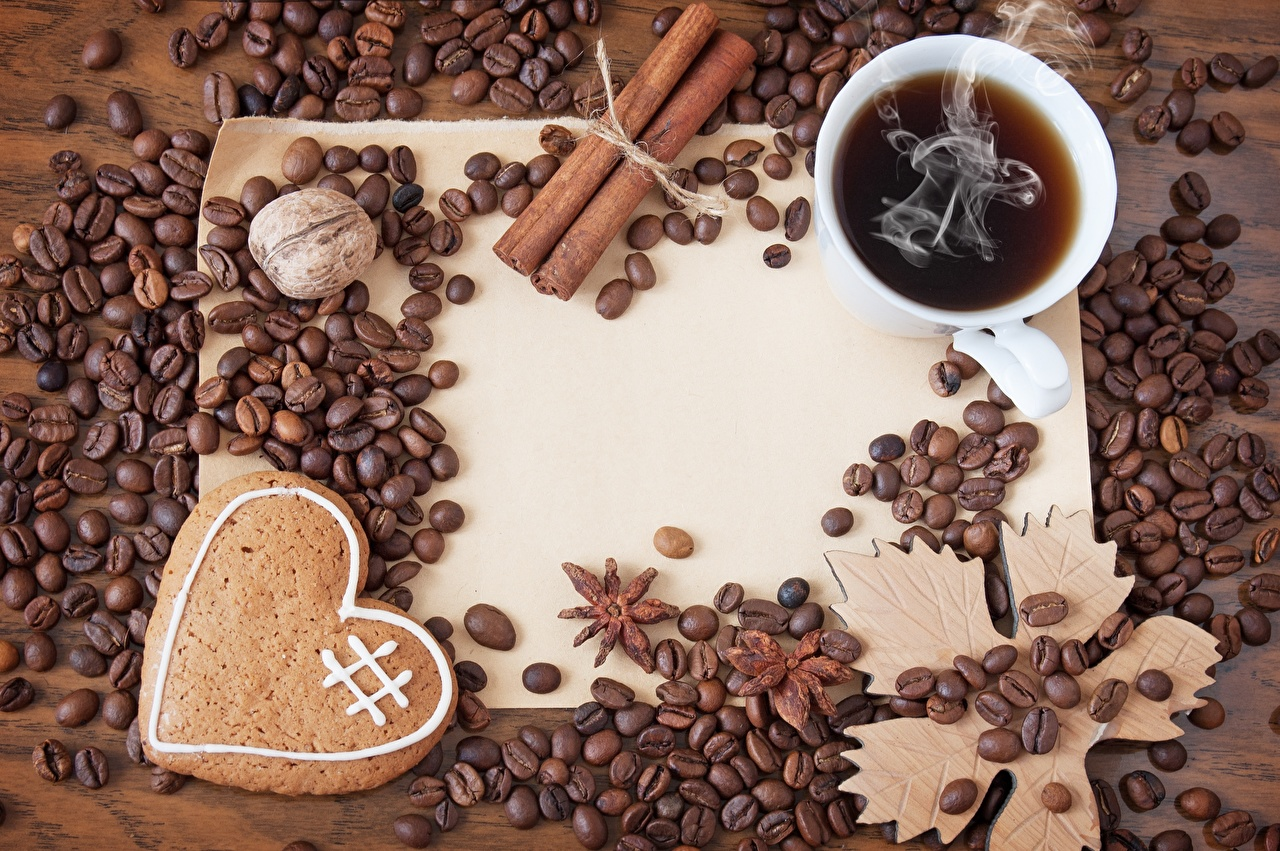 Pictures Heart Coffee Grain Cup Food