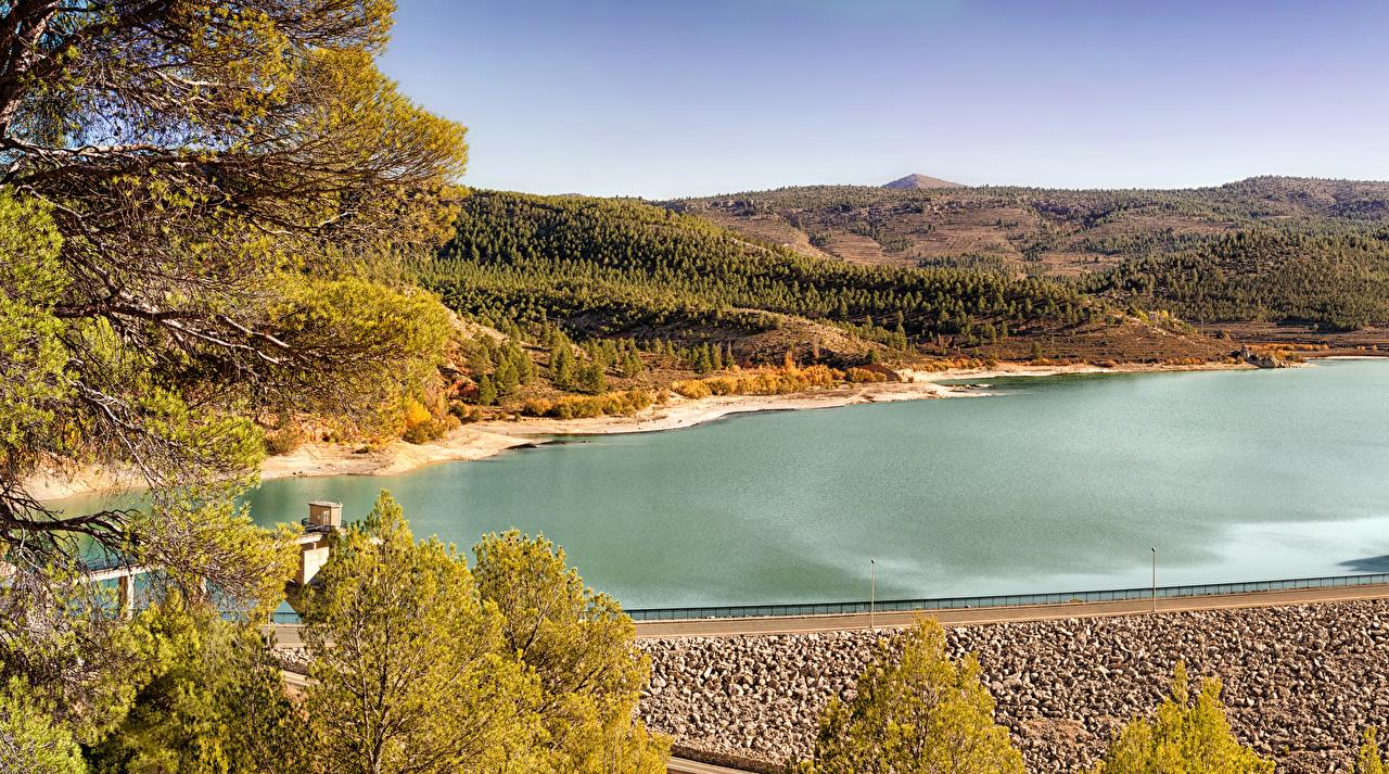 Images Spain Nature Autumn Hill Rivers