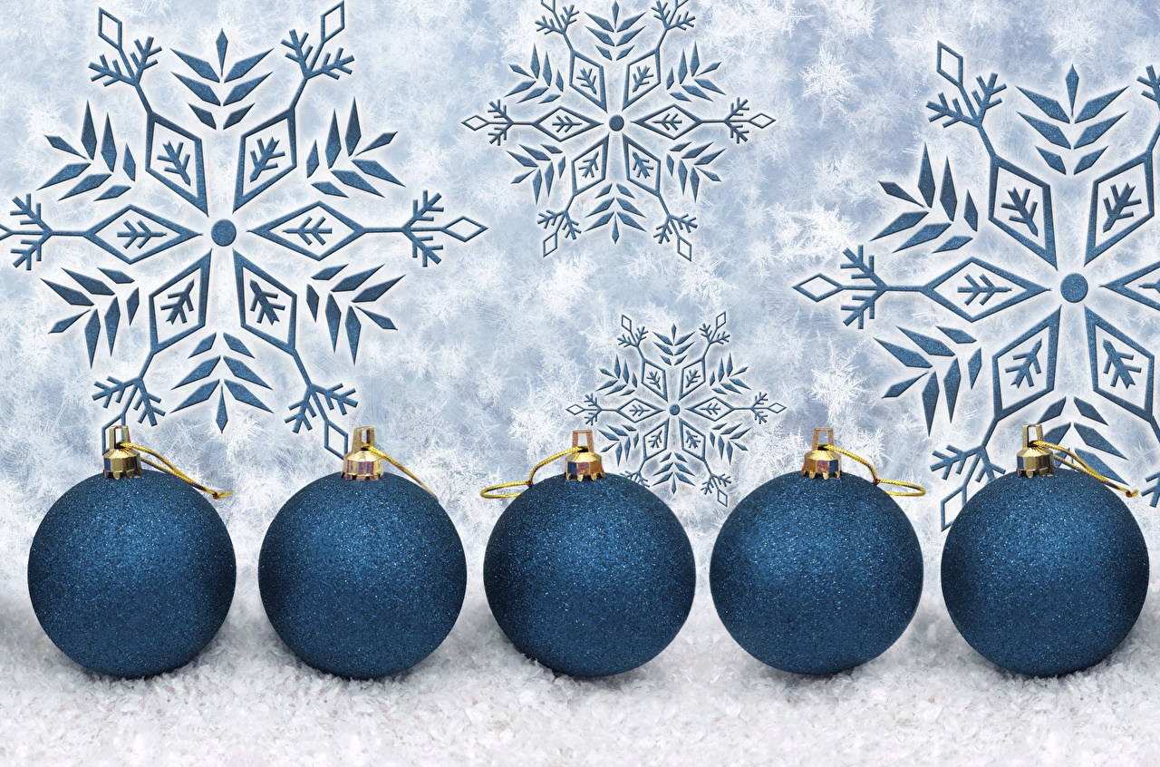 Pictures Christmas Snowflakes Balls New year
