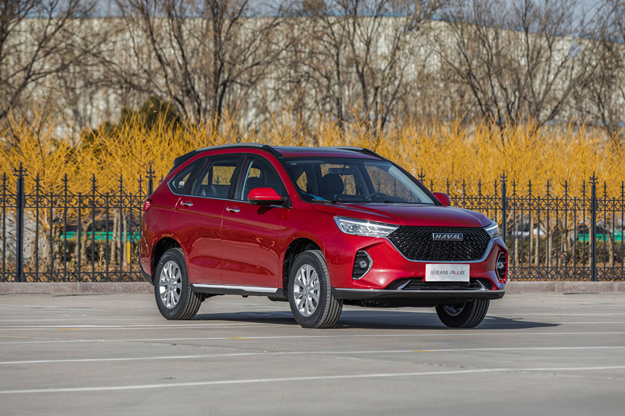 Photo Haval Chinese Crossover M6 Plus, 2021 Red Cars Metallic CUV auto automobile