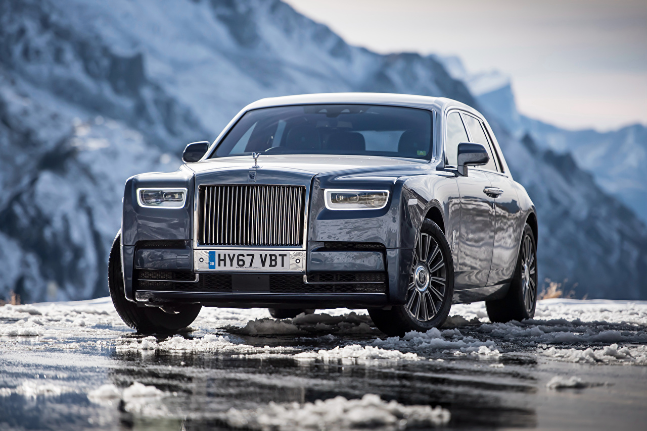 Foto Rolls-Royce Phantom Vorne Autos Metallisch auto automobil