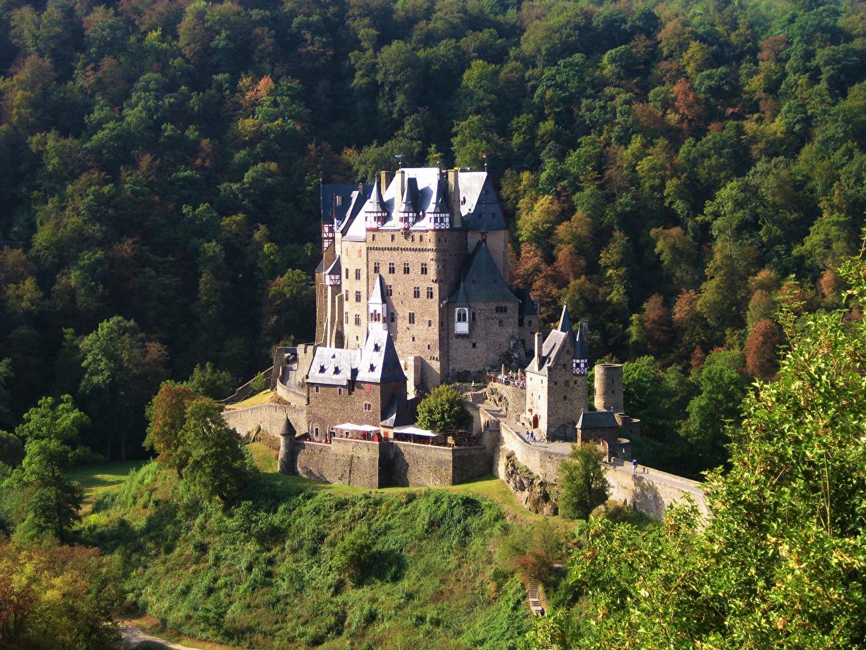 ,秋季,德国,城堡,Elz Castle, Rhineland-Palatinate,,城市,