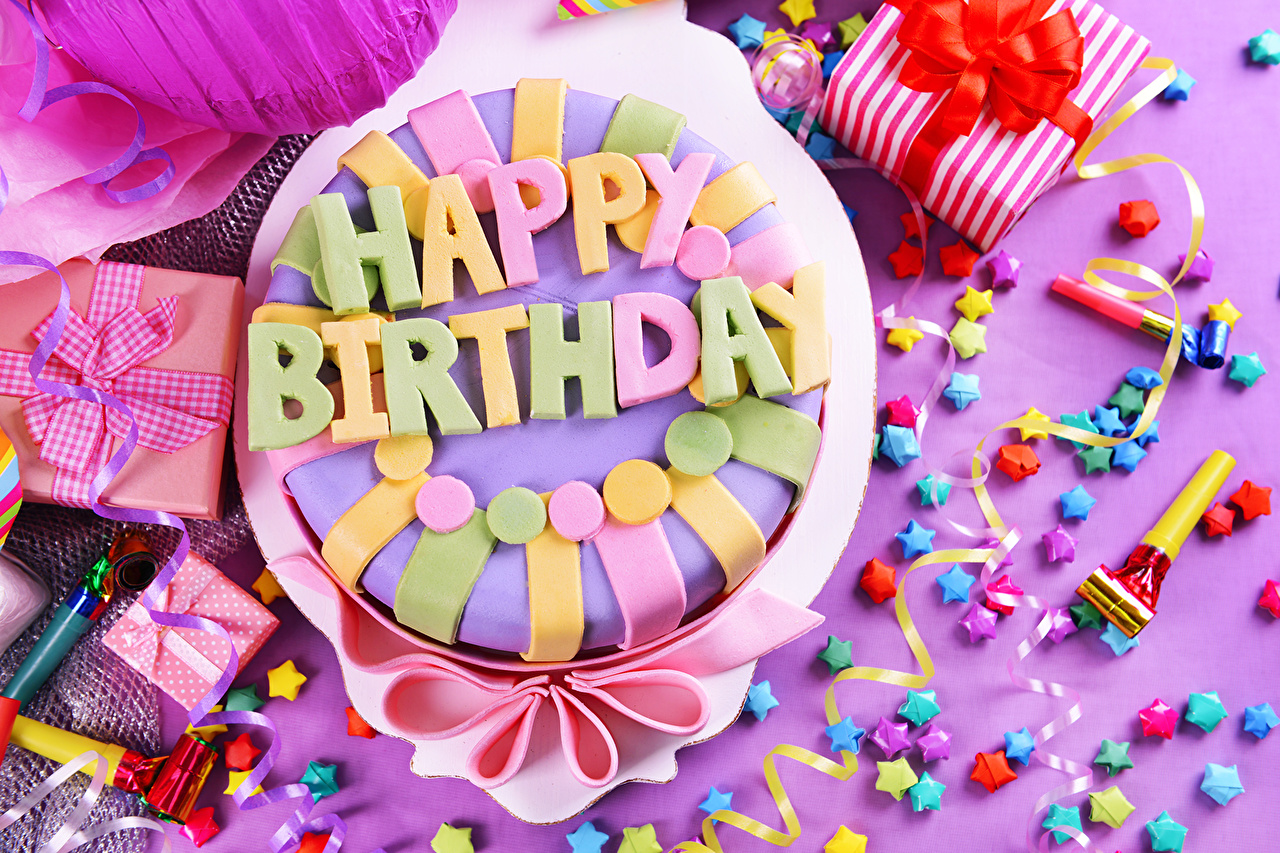 Wallpaper Birthday Cakes Food Holidays Torte