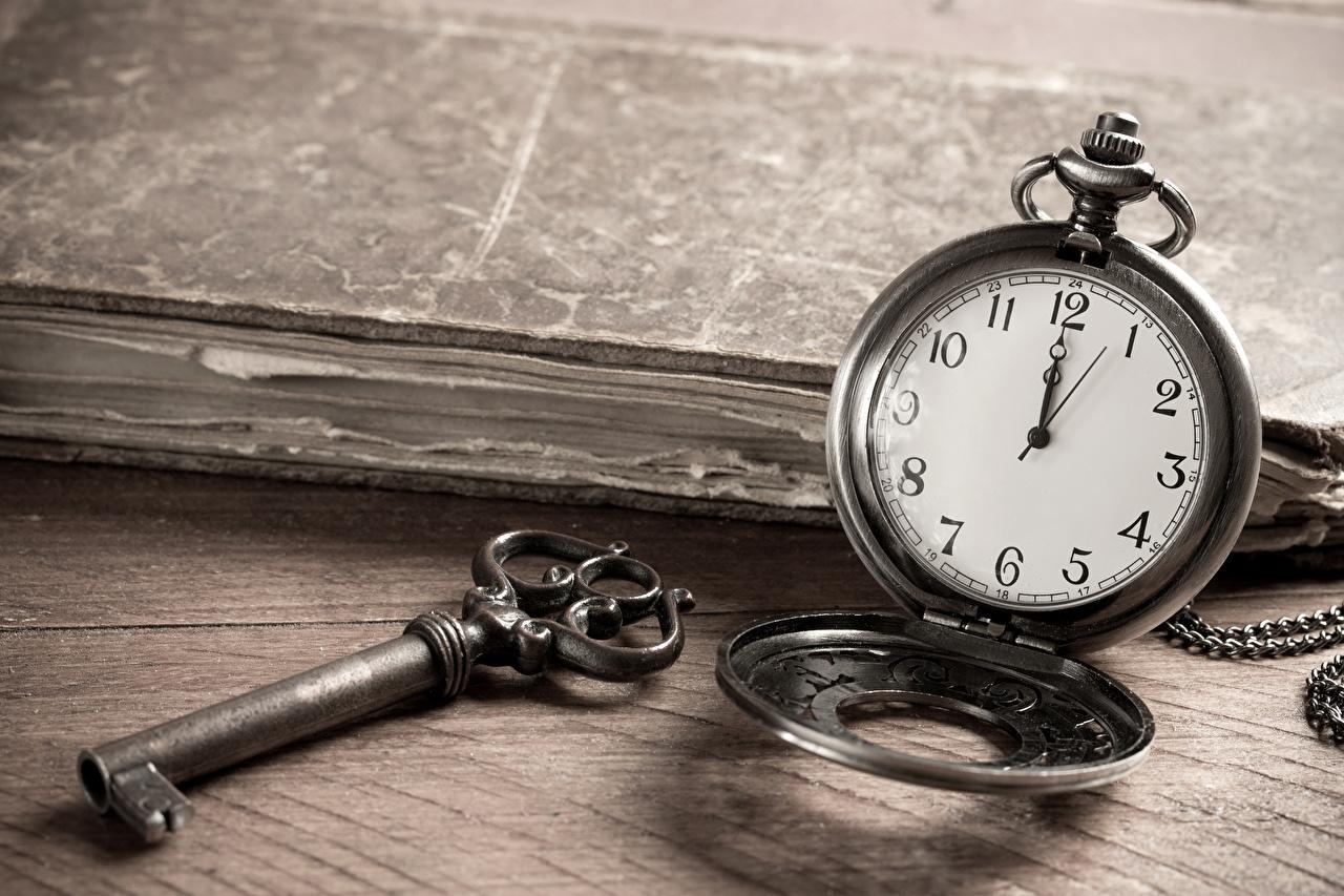 Photo Pocket watch Clock Key lock