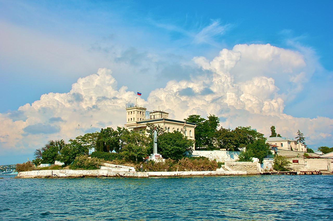 Bilder Krim Russland Denkmal Yalta Bootssteg Haus Städte Seebrücke Schiffsanleger Gebäude