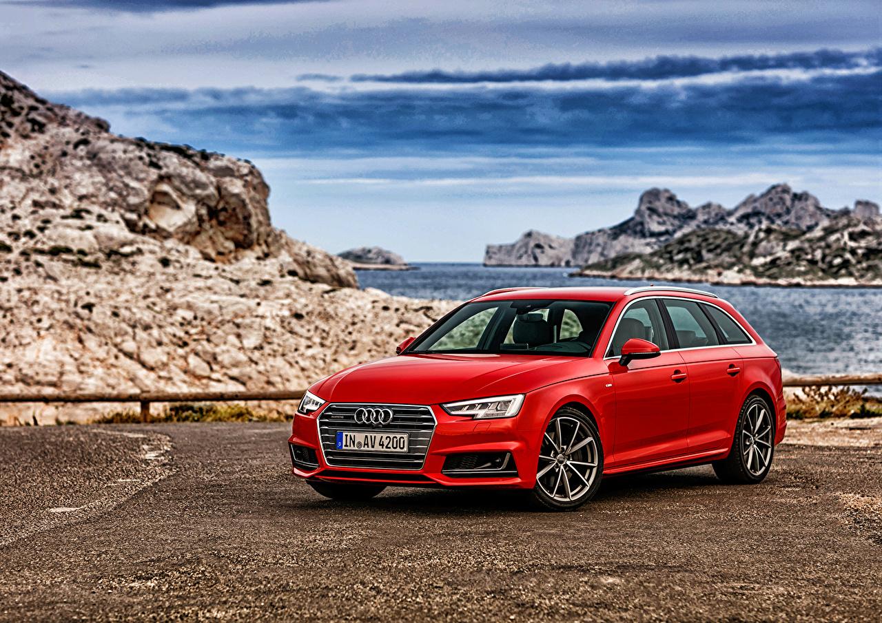 Desktop Wallpapers Automobile Audi A4 Avant Quattro Red
