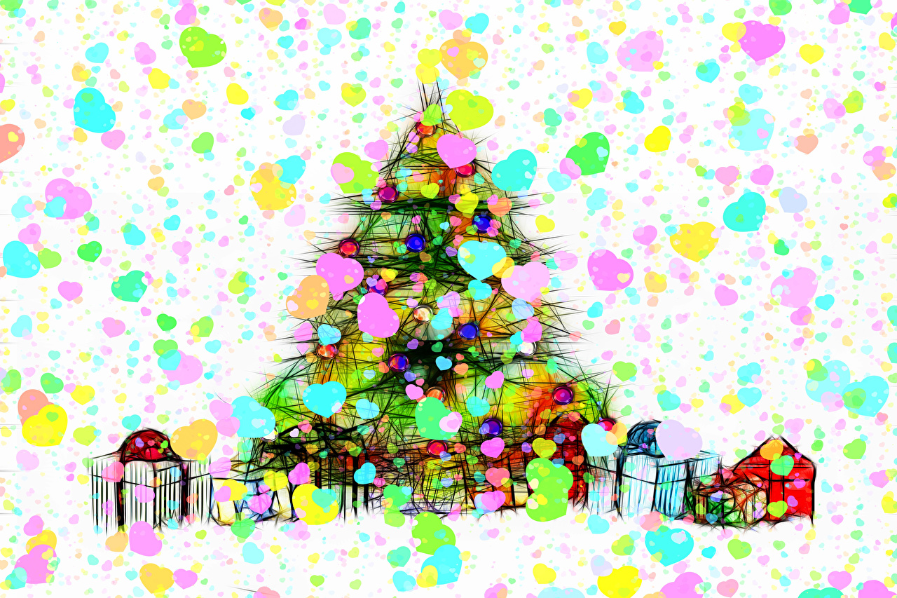 Images Christmas New Year tree Box present New year Christmas tree Gifts