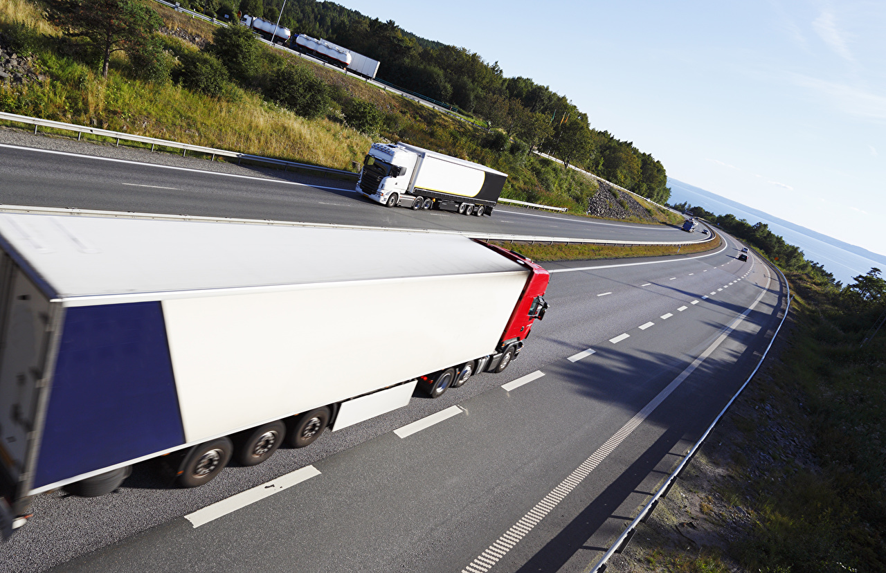 Wallpaper Trucks Roads Cars lorry auto automobile