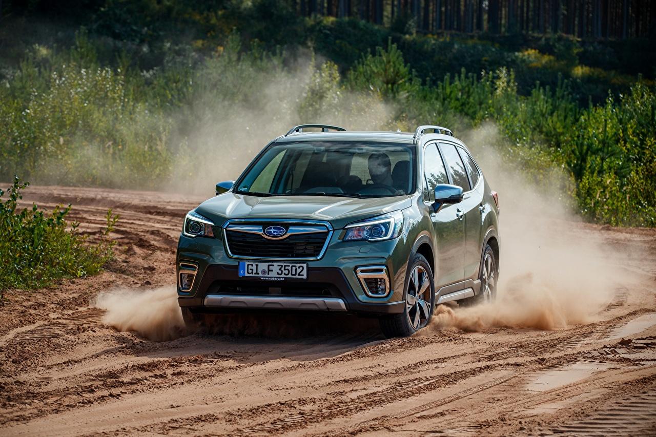 zdjęcia Subaru Forester, 2019 Ruchu samochód ruch jedzie Samochody