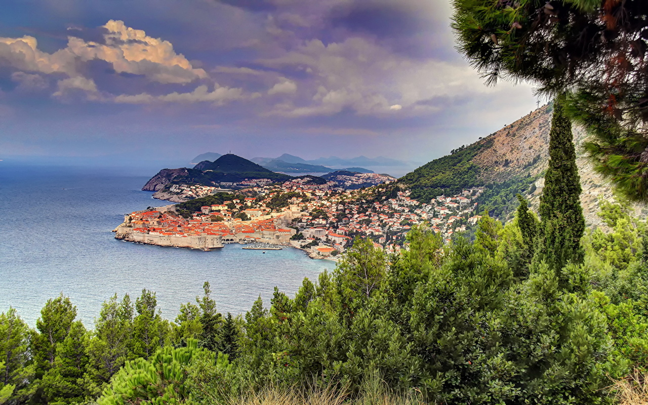 Desktop Wallpapers Cities Croatia Dubrovnik Coast HDR HDRI