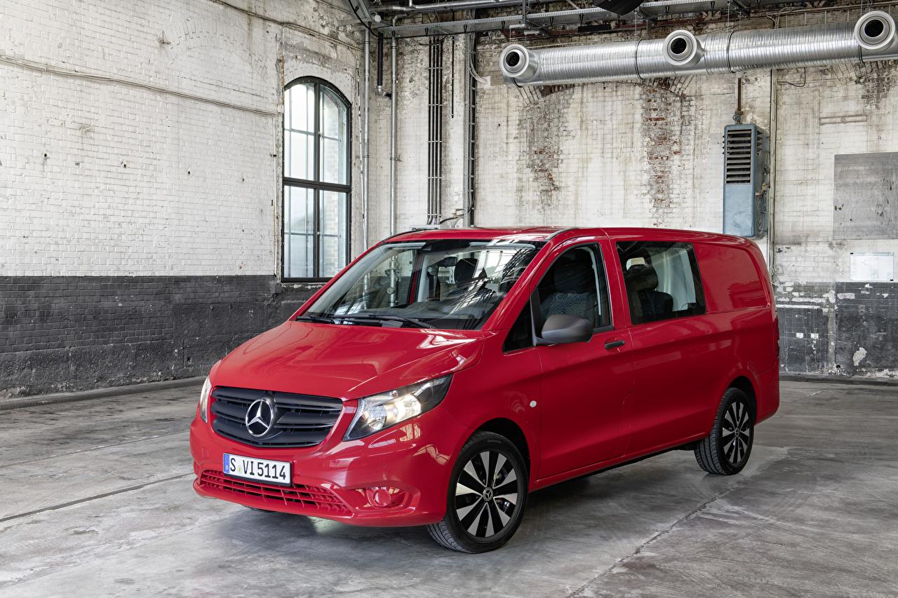 Wallpaper Mercedes-Benz 2020 Vito Mixto Worldwide Minivan Red Cars Metallic auto automobile
