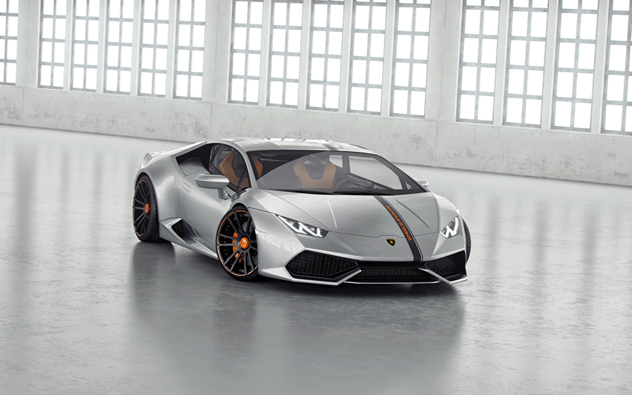Photos Tuning Lamborghini 2014 Huracan LP850-4 Lucifero luxurious Silver color automobile Luxury expensive Cars auto