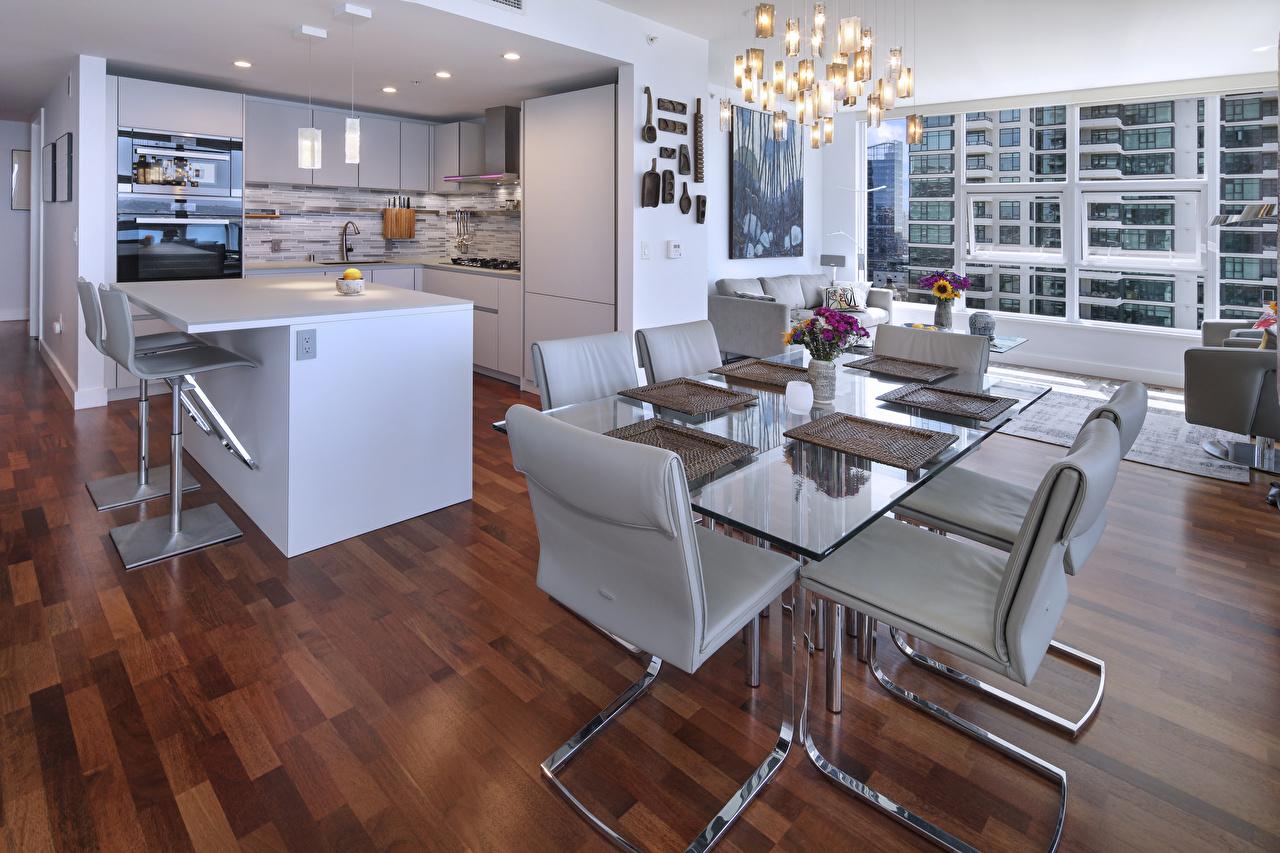 Fondos de Pantalla Diseño interior Diseño Cocina Mesa Silla ...