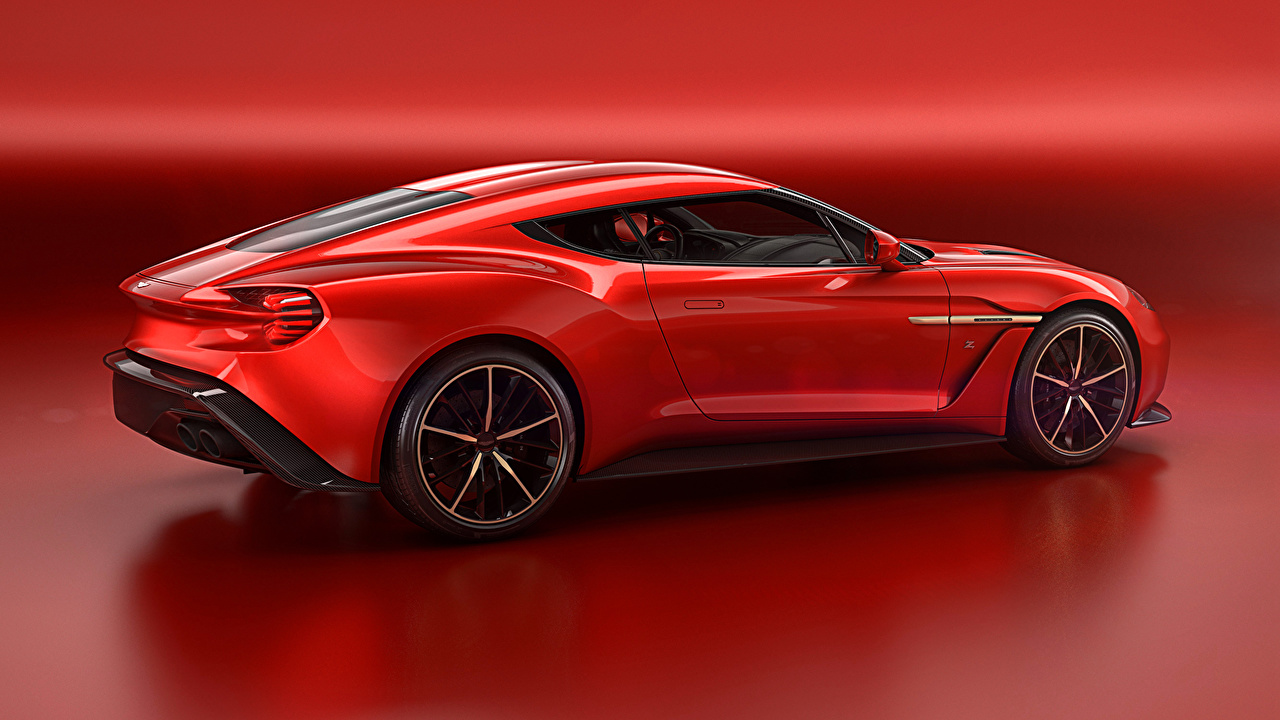 Desktop Wallpapers Aston Martin 2016 Vanquish Zagato Concept Red automobile Cars auto