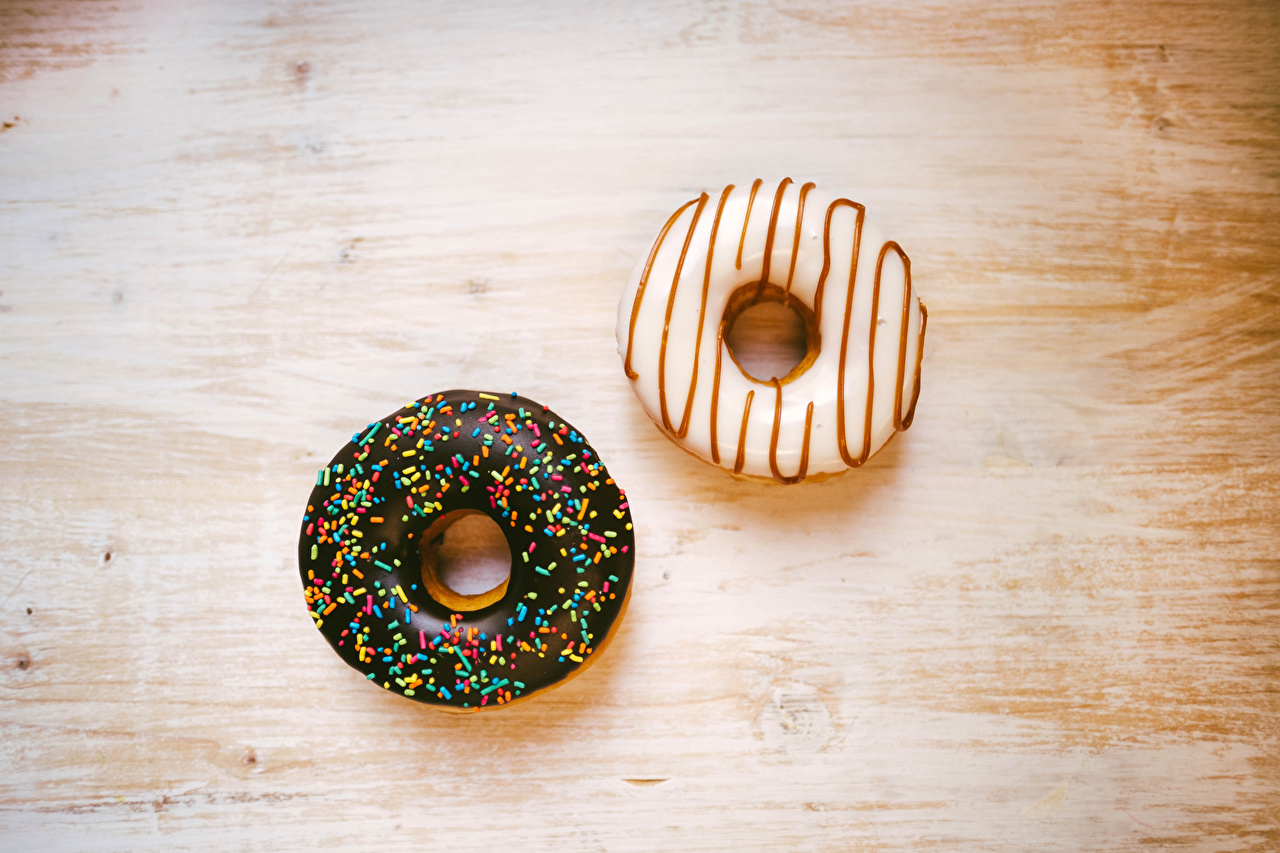 Images 2 Donuts Food Two Doughnut