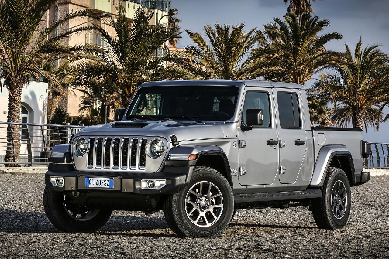 ,吉普汽車,2021 Gladiator Overland,运动型多用途车,灰色,皮卡,SUV,汽车,