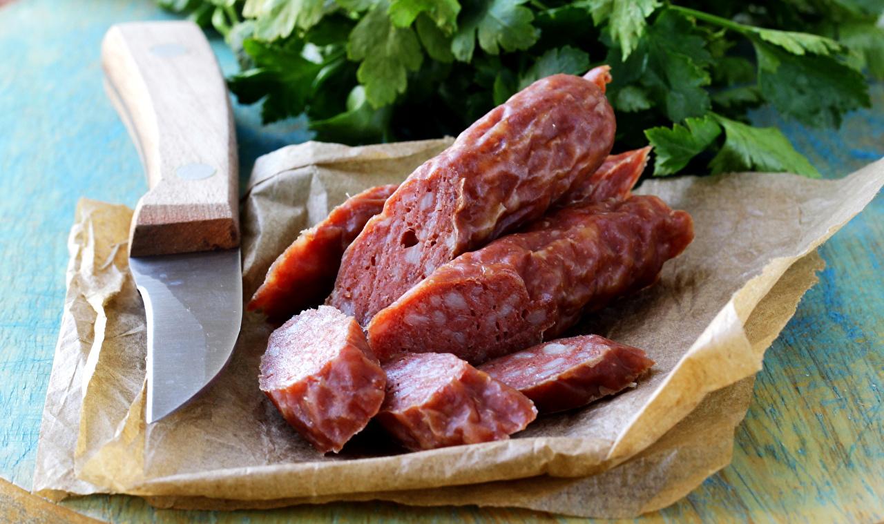 Wallpaper Knife Sausage Food Sliced food