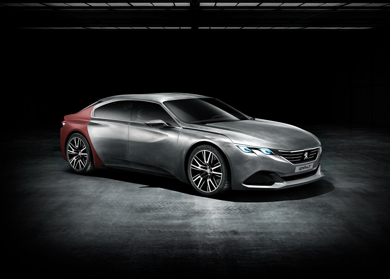 Bilder Peugeot Concept, Exalt Coupe graues auto Seitlich Grau graue Autos automobil