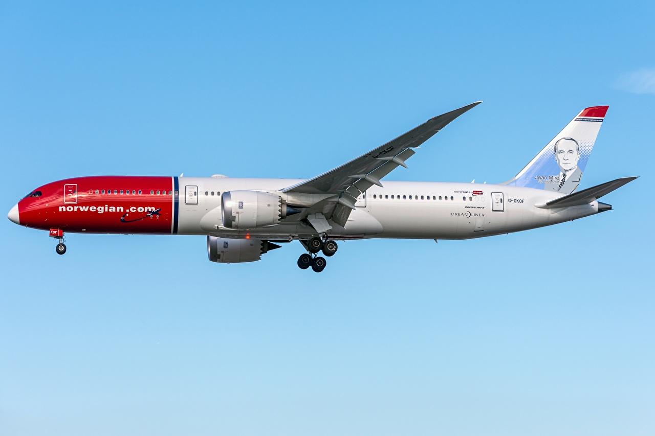 Bilder von Boeing Flugzeuge Verkehrsflugzeug 787-9, Dreamliner Seitlich Luftfahrt